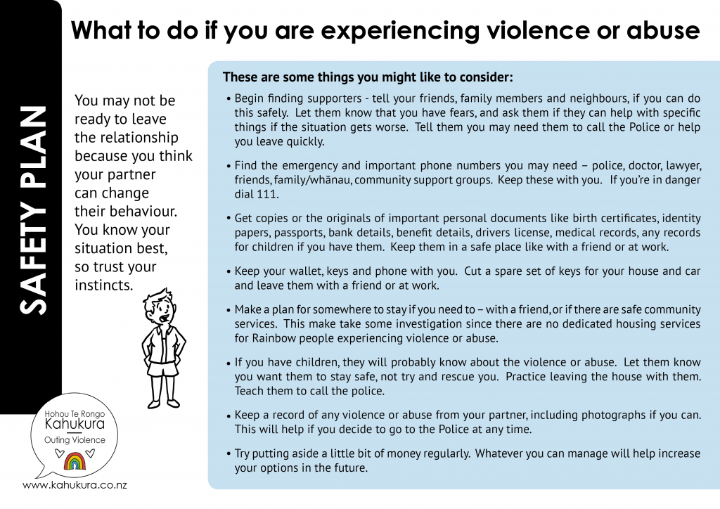 HTKR SP if you are experiencing violence or abuse