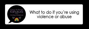 using violence